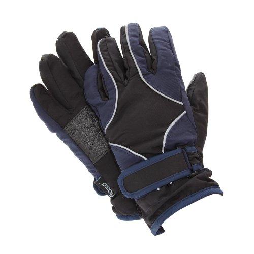 FLOSO® Kinder Strapazierfähige Wasserfeste Gepolsterte Thermo Ski & Winter Handschuhe (4-8 Jahre) (Marineblau/Schwarz)