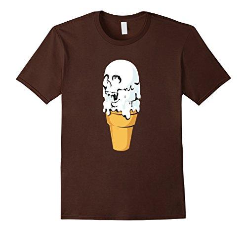 Mens Ice Cream I Scream Melting Skull Halloween Costume T-Shirt Large (Scream Costume Brown)