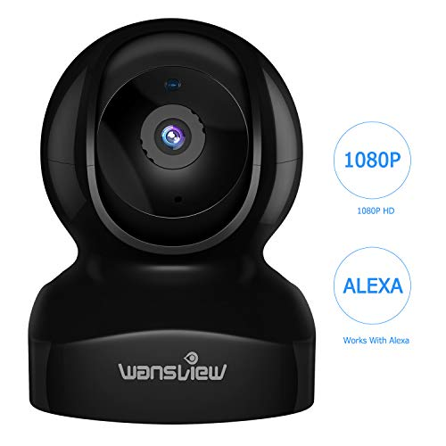 IP Camera, Wireless Security Camera 1080P HD Wansview, WiFi Home Indoor Camera Baby/Pet/Nanny, Motion Detection, 2 Way Audio Night Vision, Compatible with Alexa Echo Show, with TF Card Slot and Cloud