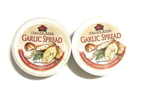 Italian Rose Garlic Butter Spread (Pack of 2) 4 oz Tubs