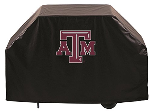 (Texas A&M Aggies HBS Black Outdoor Heavy Breathable Vinyl BBQ Grill Cover (60