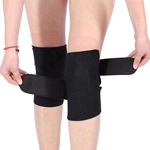 1Pair Self Heating Knee Brace Sleeve,Tourmaline Self-heating Magnetic Therapy Knee Protective Belt Arthritis Brace Support