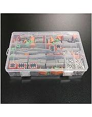 Sky City 250pcs Deutsch DT Series Waterproof Wire Connector Kit DT06-2/3/4/6S DT04-2/3/4/6P Automotive Sealed Plug with pins Box