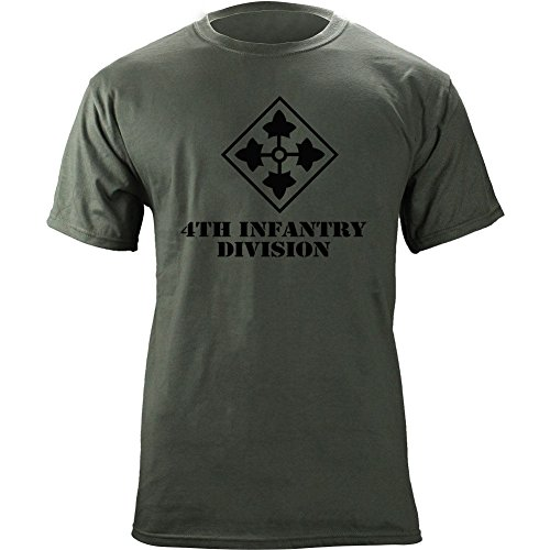Army 4th Infantry Division Subdued Veteran T-Shirt (2XL, -