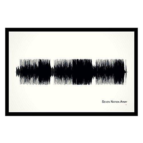 Seven Nation Army - 11x17 Framed Soundwave print (Stripe Sheffield)