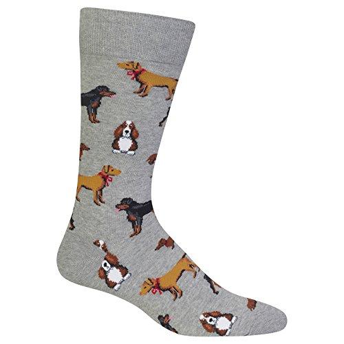 Hot Sox Men's Multi Dog Novelty Socks (Sox Dog Hot)