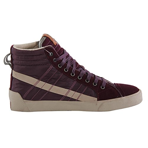 5a5a306b1231 Diesel Herren Teil Leder High Sneaker Schuhe D-String Plus Purple G01169  Größe 43 ...
