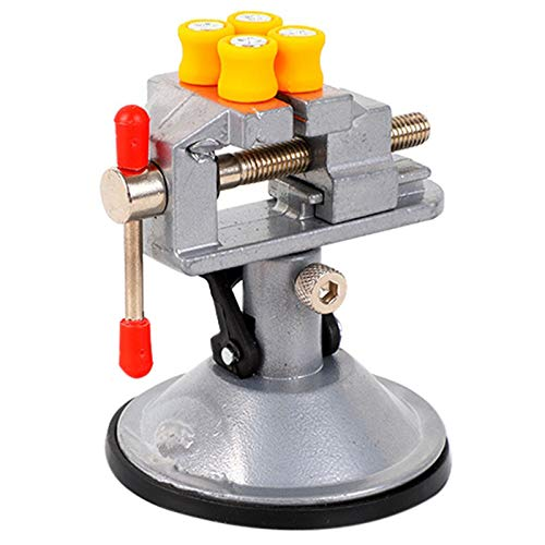SODIAL Fixed Frame Sucker Clamp Adjustable Table Bench Vise Rotatable Bench Screw For Repair Table Vise Bench Clamp Grinder Table Vise Shelf