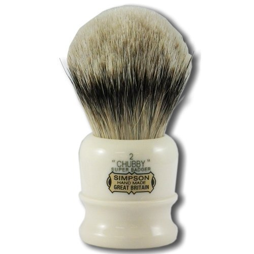 Simpsons Chubby 2 Super Badger Hair Shaving Brush (Simpson Chubby 2 Best Badger)