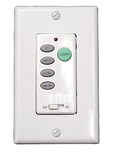 Litex WCI-100 Wall Command Universal Ceiling Fan Control, Three Speeds and Full Range Dimmer