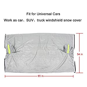 "Car Windshield Snow Cover ,Frost Cover Windscreen SUV Car Snow Cover for Winter Protection Fit for Most Vehicles( 85""L x 54""W)"