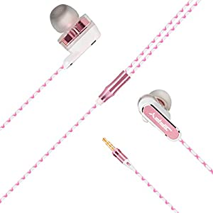 JIFFY Double Driver In-Ear 3.5mm Special material cable running Headphones (Earphones/Earbuds) with Apple iOS and Android Compatible Microphone