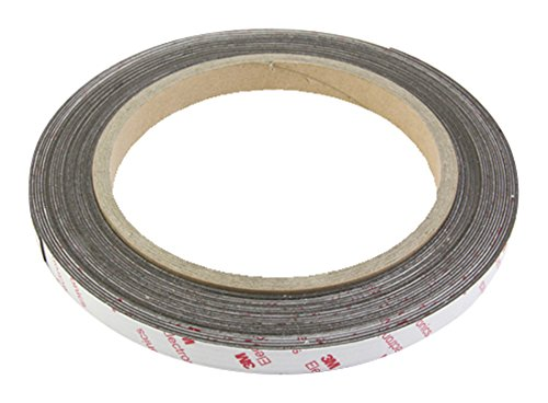 NEO+ NeoFlex 12.7mm wide x 0.85mm thick Flexible Neodymium Magnetic Tape with 3M Self Adhesive (1m length) Magnet Expert® NF12(3M)-1X1M