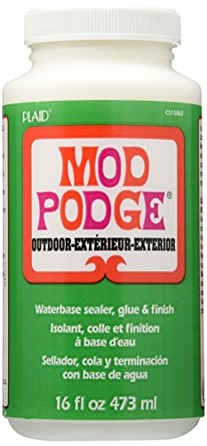 (Mod Podge Waterbase Sealer, Glue and Finish for use Outdoors (16-Ounces), CS15062)