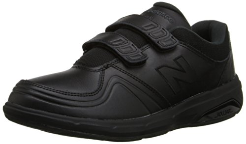 New Balance Women's WW813 Hook and Loop Walking Shoe, Black, 5 D US