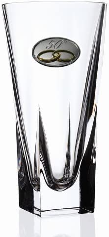 Lorenzo Imports 237170-50 RCR Fusion Crystal Vase Large with 50th Anniversay Design
