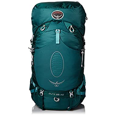 Osprey Women's Aura 65 AG Backpacks, Rainforest Green, Small