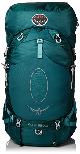 Osprey Women's Aura AG 65 Backpack, Rainforest Green, Small