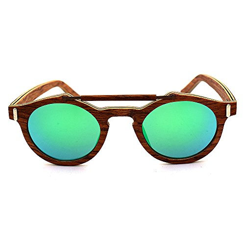 Colores Azul Aclth de a Verde Azul Mano polarizadas Lentes Madera Sol Unisex de Gafas Unisex de Hechas protección UV400 aHqrRPaw