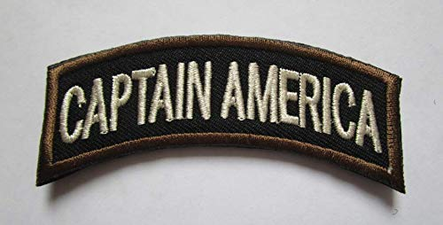 Captain America Military Patch Fabric Embroidered Badges Patch Tactical Stickers for Clothes with Hook & Loop (color1)