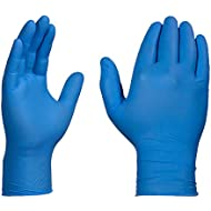 AMMEX Industrial Nitrile Disposable Gloves - 3 Mil, Blue, Powder-Free, Latex Free, Textured, Ambidextrous, Xlarge, Box of 100