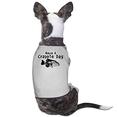 Skkoka Fashion Sleeveless Pet Supplies Dog Cat Clothes Crappie Fishing Pet Apparel Clothing M Gray Crappie Chart