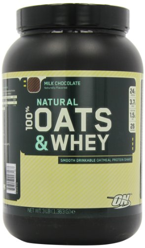 Optimum Nutrition 100% Oats Whey Naturel et chocolat au lait, 3 Pound