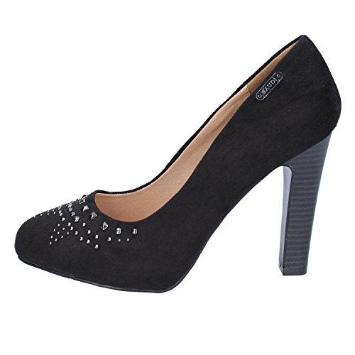 GAUDI zapatos para mujer negro gamuza AJ36