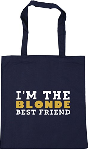 HippoWarehouse 42cm best Beach Shopping x38cm 10 friend French Navy I'm the litres blonde Gym Tote Bag fvtHfr