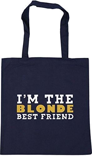 Shopping I'm Beach Tote friend the 42cm Bag Gym blonde litres best 10 HippoWarehouse French Navy x38cm qAYSq