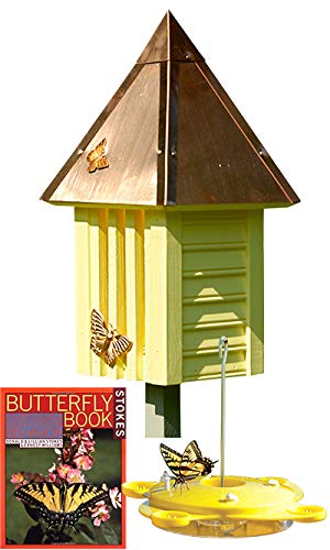 BestNest Flutterbye Butterfly House with Feeder and Book