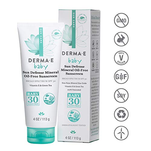 Derma E SPF 30 Baby Natural Mineral Sunscreen, 4 Ounce