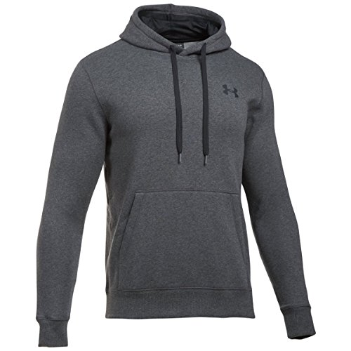 Under Armor Men's Rival Fleece Fitted Hoodie, Carbon Heather/Black, XXX-Large