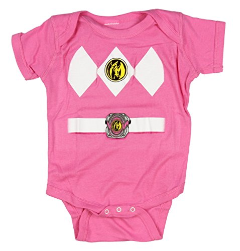 [Power Rangers Pink Baby Ranger Costume Romper Onesie (18-24 Months)] (Yellow Power Ranger Costumes Child)