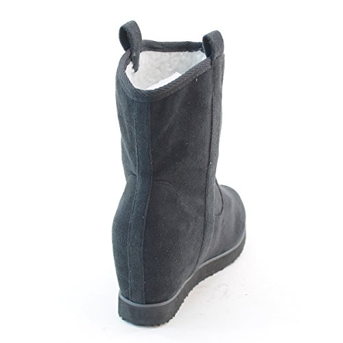 New Brieten Womens Comfortable Wedge Ankle Snow Boots aIiJ1YmJ