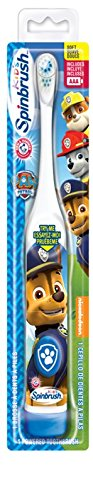 ARM & HAMMER Spinbrush Kids Battery Powered Toothbrush, Paw Patrol, Design May Vary Church & Dwight CA 2345