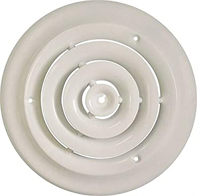 Rocky Mountain Goods Round Ceiling Diffuser with Installation Kit - Create a more consistent flow of air throughout room - Includes screws for install - Solid metal design - Premium finish
