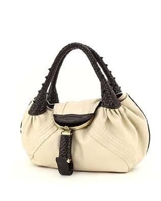 Designer Inspired Oversized Spy Handbag - Beige