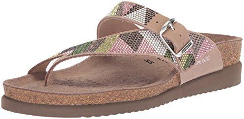 Mephisto Women's Helen SPARKN Slide Sandal, Taupe/Green, 8 M US ()