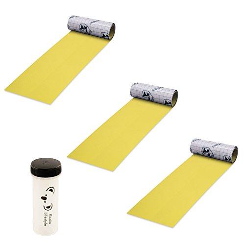 "Gear Aid Tenacious Tape Fabric Repair 3"" x 20"" Nylon Tape Roll | Strong Adhesive Outdoor, Camping, Hiking Equipment Repair Kit | 3x Bundle with Waterproof Vial, Yellow"