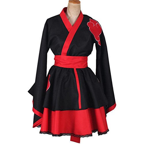 NSOKing New Naruto Akatsuki Halloween Party Uchiha Itachi Costume Dress (Small, Black) ()