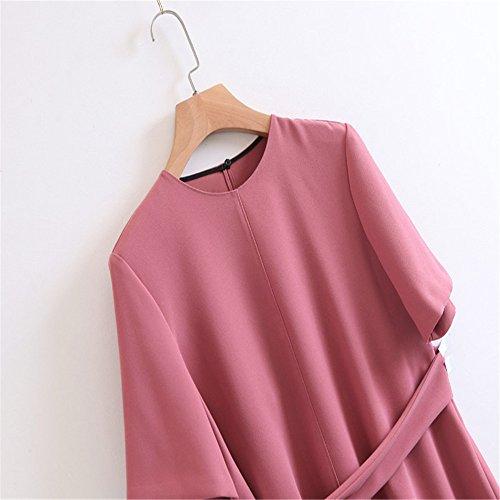 El Camiseta Otoño Manga Jerseys Moda Redondo Correa La Sólido Cuello Imagen Irregulares Xmy Color Con De Silvestres Corta xq4wgxHpf