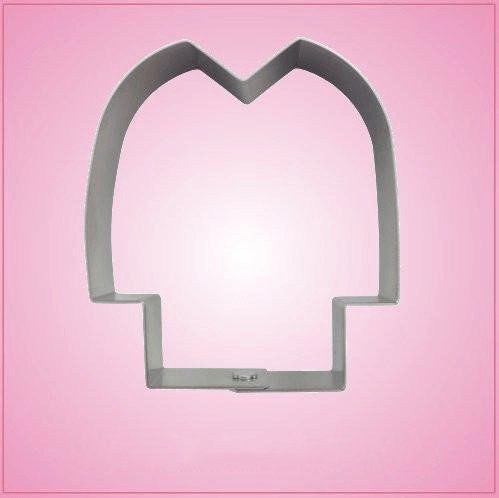 Simple Hockey Jersey Cookie Cutter 3-1/2 inches tall