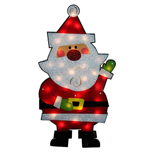 Outdoor Lighted Plastic Santa Claus in US - 4