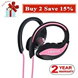 Bluetooth Headphones, YMXUAN U4B Cordless Sports Headset with Mic, IPX5 Sweatproof, HD Stereo Sound, Noise Cancelling, Up to 8 Hours for Running, Gym, Wireless Workout Earphones Pink