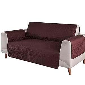 SearchI Fundas de Sofá 1 Plazas Cubierta para Sofa Reversible Cubre de Sofa Antideslizante Protector para Sofás Muebles Acolchado contra Mascotas, ...