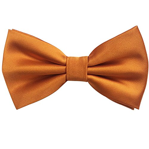 Adjustable Orange Formal tied Color Bow Handmade Solid Tie Men's Tuxedo Classical Pre YxPYgS