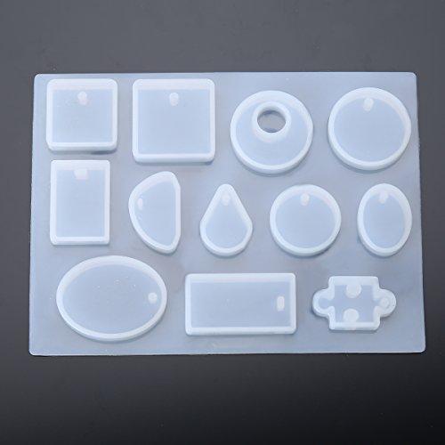 1 x Molde Silicón Cabujón 12 Diseño para la Joyería la Resina Epoxy Haciendo: Amazon.es: Hogar