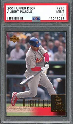(2001 upper deck #295 ALBERT PUJOLS st louis cardinals rookie card PSA 9 Graded Card)