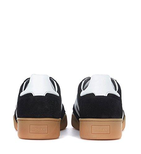 Hogan Sneaker H357 in Suede e Mesh Nero e Pelle Bianca Nero